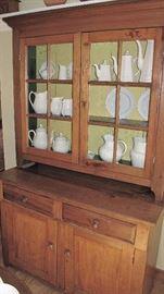 12 light stepback with pie shelf. Pennsylvania origin.