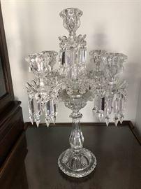 Baccarat French crystal seven-arm candelabra