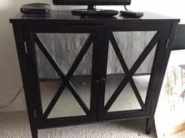 Mirrored Black Cabinet