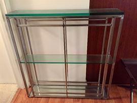 Metal and Glass Shelf Unit