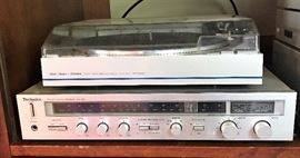 Technics Receiver and Fisher Turntable