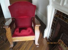 MISSION STYLE ROCKING CHAIR $175.00