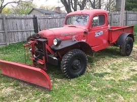 1949 Dodge power wagon Pick up truck with plow $1,000 FIRM