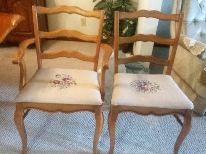 dining room chairs.  2 arm chairs, 2 side chairs