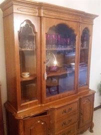 French Country china cabinet