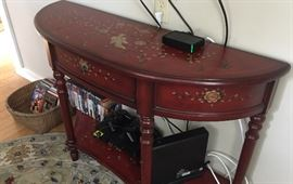 Charming painted table, CD's, & Play Station 2!