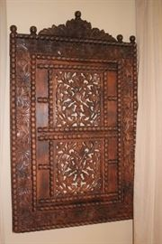 Carved Indonesian Shutter
