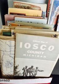 Old Michigan maps