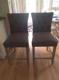 Pair of Tufted Bar stools
