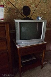 Television and End Table