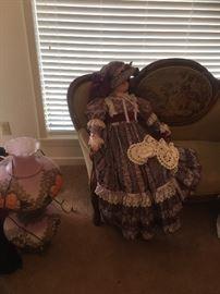 Life size victorian porcelain dolls