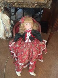 Large porcelain doll