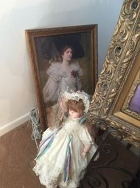 Victorian lady oil painting