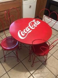 Vintage Coca Cola table and chairs