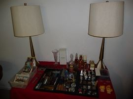 VINTAGE PENS, VINTAGE POSTCARDS, VINTAGE LAMPS, SMALLS, PERFUME