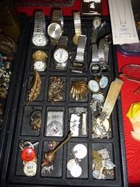 WATCHES, PINS, RELIGIOUS