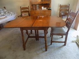 drop leaf table with 6 chairs and two leaves 150 set