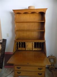 secretary desk hutch 175