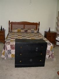 Queen bed, 2 night stands, 2 3-drawer chests (only one pictured)