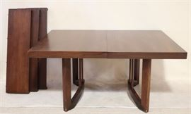 Mid Century dining table with leaves