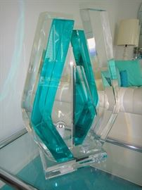 Signed Acrylic Sculpture