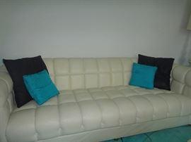 Vintage Naugahyde sofa, great condition.