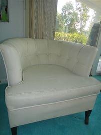 Vintage Naugahyde club chair, set of 4