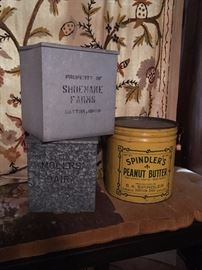 Milk boxes  Shoemaker and Moler's Dairy