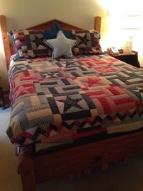 "The ""Texas"" bed and quilt"