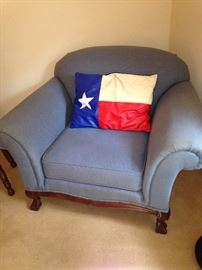 Comfortable chair and Texas pillow