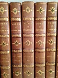 """Works of Stevenson"" - leather bound books"