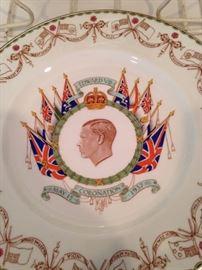 Cauldon china plate from May 1937 - English Coronation