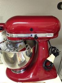 Red Artisan electric mixer