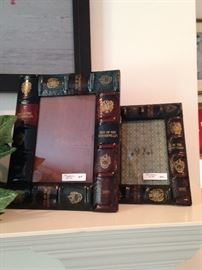 Book motif picture frames