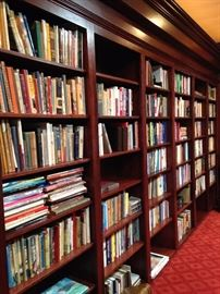 A library full of incredible selections of first editions and/or autographed books. (Trudy Richardson was the owner of Trudy's Fireside Books in Tyler for many years.)