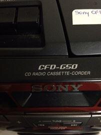 Sony CD radio cassette-corder