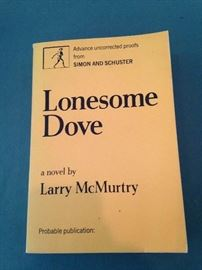 "Advance uncorrected proof of Larry McMurtry's ""Lonesome Dove"""