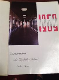 One of several yearbooks from The Hockaday School in Dallas