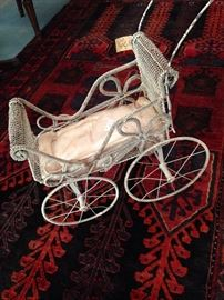 Victorian baby doll carriage