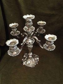 Lovely silverplate candelabra