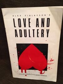"""Love and Adultry"" Playbill - play written by Tylerite Alex Finlayson"