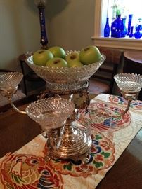 Another silver plate epergne