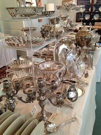 More fabulous silver and silver plate serving pieces