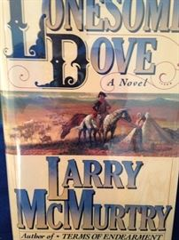 "Autographed first edition of Larry McMurtry's ""Lonesome Dove""  -"