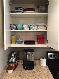 Coffee Maker, Dishes, Stove range top