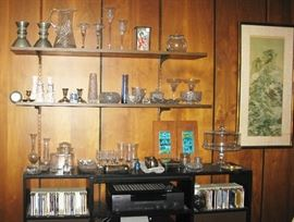 lots of glassware and crystal