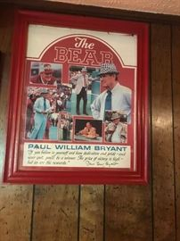 #6 the bear Paul William Bryant signed $100