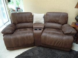 Like New -  Leather recliner theater seats - 2 SETS