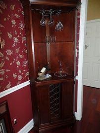 Corner Bar Cabinet-lighted