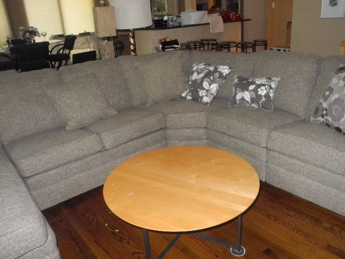 Beautiful woven fabric sectional by Smith Company